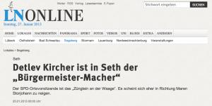 """Detlev Kircher ist in Seth der """"Bürgermeister-Macher"""""""