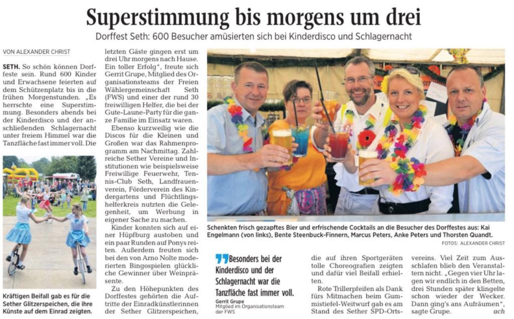Quelle Segeberger-Zeitung vom 18.7.2016