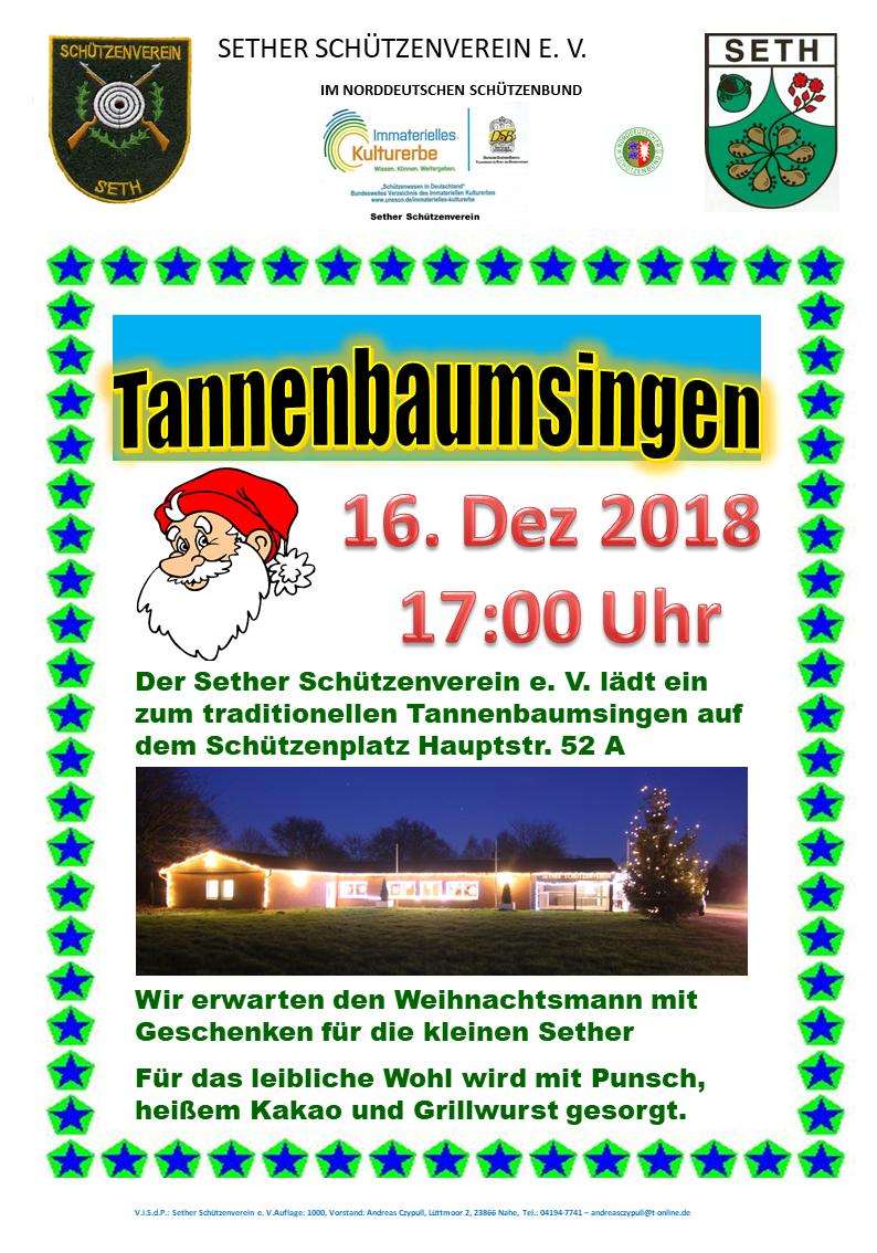 Tannenbaum Singen.Tannenbaumsingen 2018 Freie Wählergemeinschaft Seth